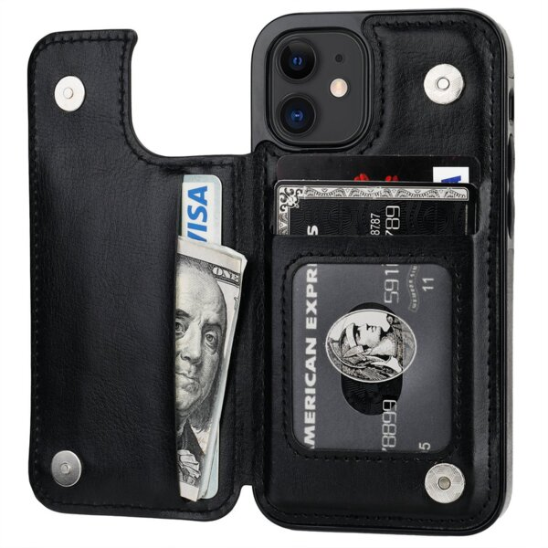 Кожен Magnetic case тип заден тефтер Iphone 12 Mini