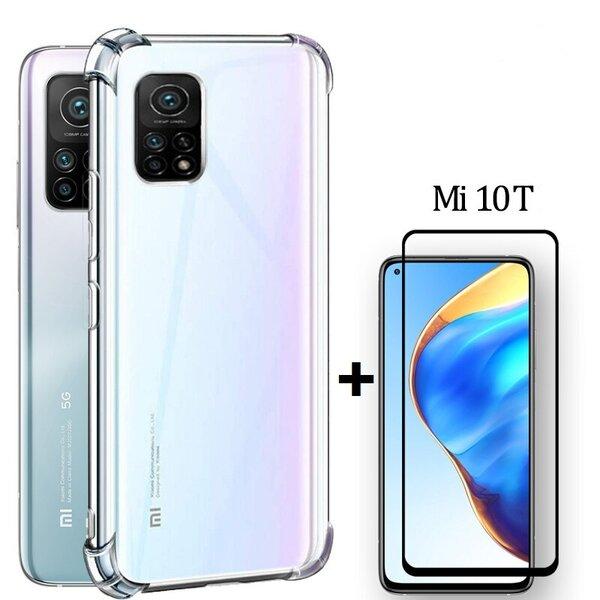Комплект 5D Full Glue Стъклен протектор + Clean Armor гръб Xiaomi Mi10T
