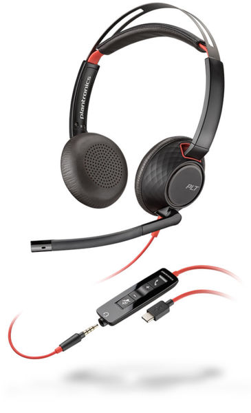 Plantronics Blackwire C5220 USB-А - Професионална микрогарнитура
