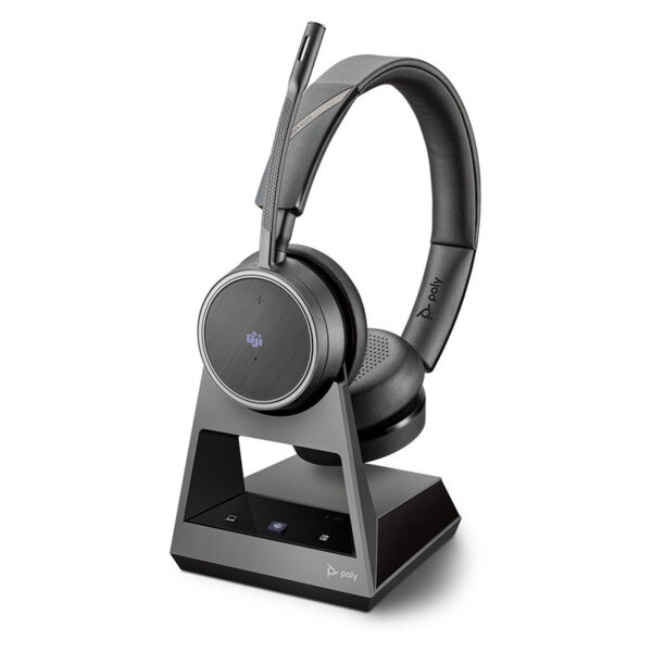 Plantronics Voyager V4220 CD Office, 2-Way Base Microsoft Teams - Безжична микрогарнитура с база