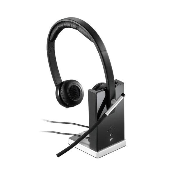 Logitech H820e Duo DECT - Безжична бизнес слушалка