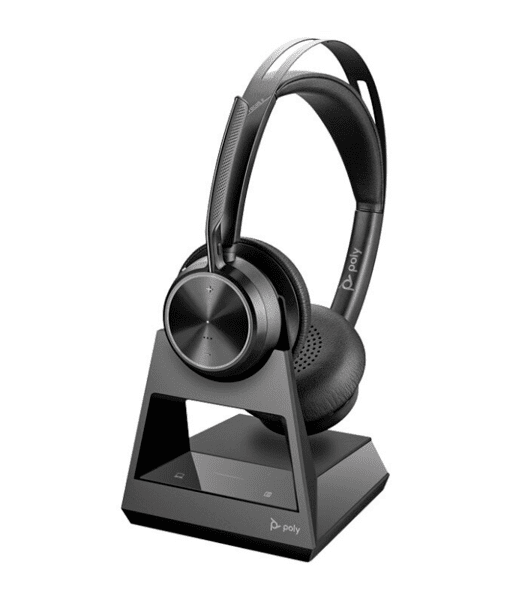 Poly Voyager Focus 2 Office USB-A - Безжична микрогарнитура с база