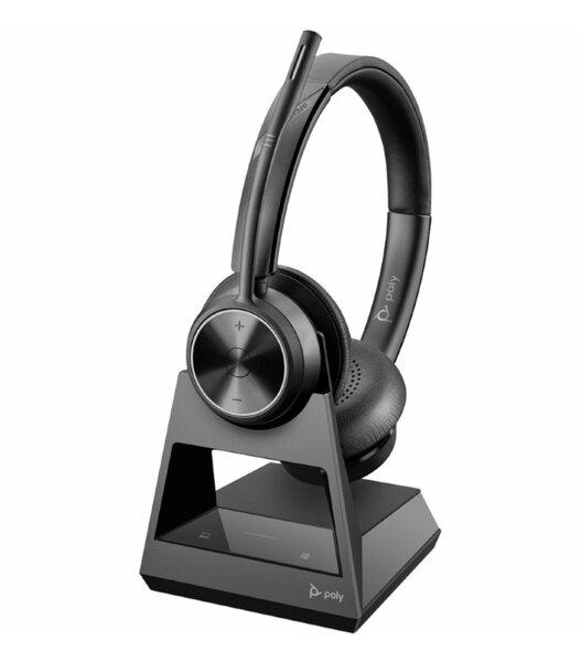 Poly Savi 7320 Office DECT Wireless - Безжична микрогарнитура с база
