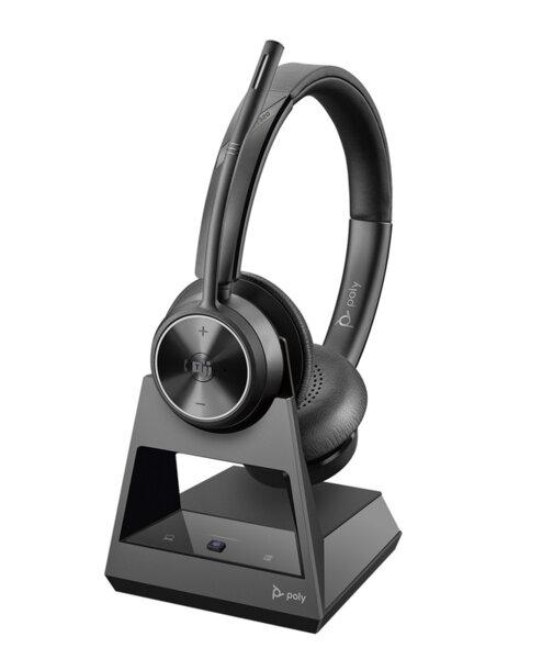 Poly Savi 7320 Office Microsoft DECT Wireless - Безжична микрогарнитура с база