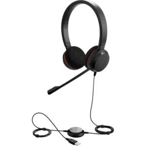 Jabra EVOLVE 20 UC Duo USB - Професионална микрогарнитура