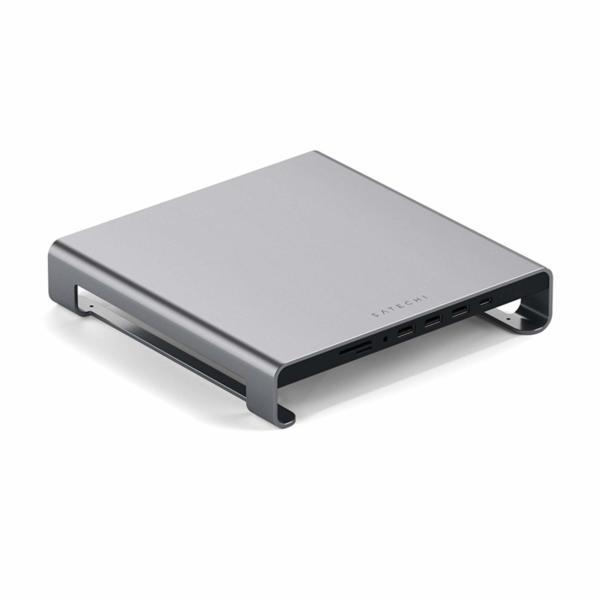Satechi USB-C Aluminium Monitor Stand Hub for iMac - Настолна алуминиева поставка с допълнителни портове