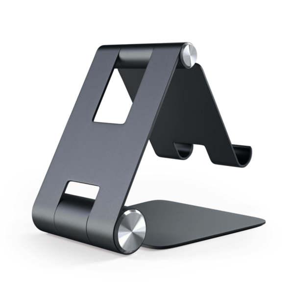 Satechi R1 Aluminum Foldable Stand - Сгъваема алуминиева поставка за мобилни телефони, таблети и лаптопи до 12 инча