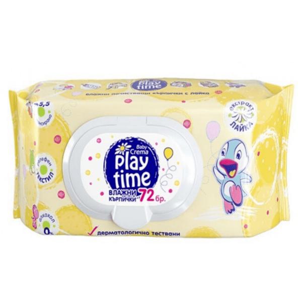 Мокри кърпи Play Time Yellow, 72 броя