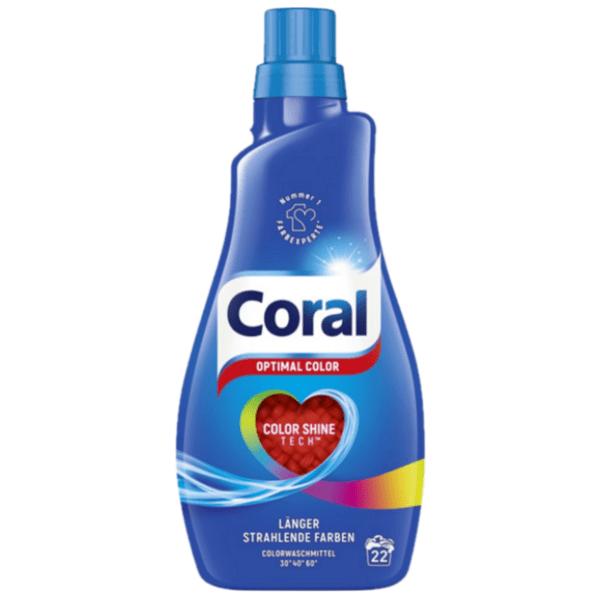Течен перилен препарат Coral Color, 1,100 л, 22 изпирания