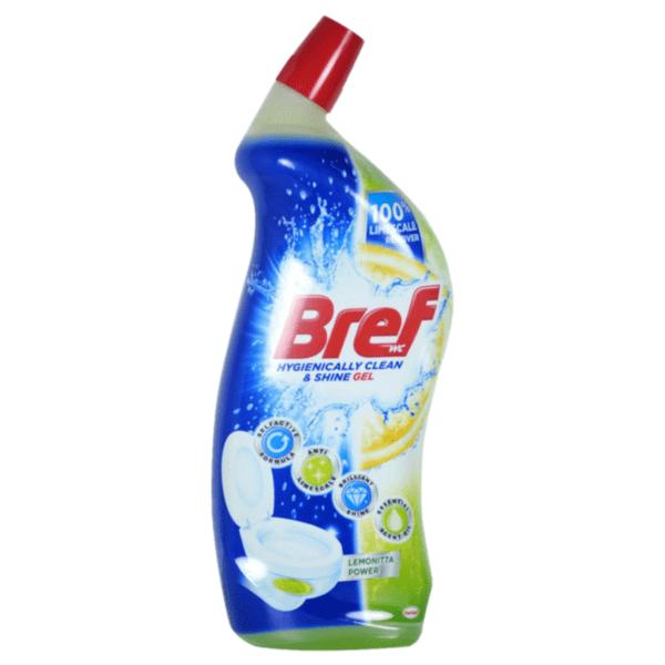 Почистващ препарат за тоалетна Bref Limone, 750 мл