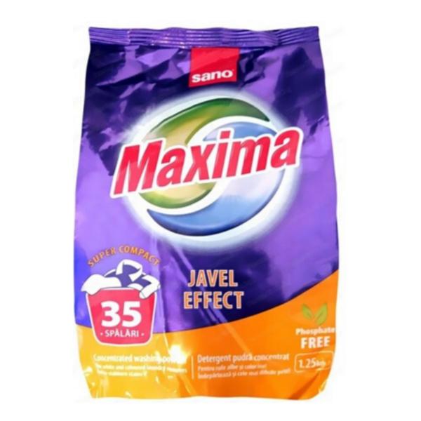 Прах за пране Sano Maxima Javel, 1,25 кг, 35 пранета