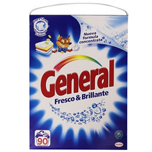 Прах за пране General Fresco & Brillante, 4,950 кг, 90 пранета