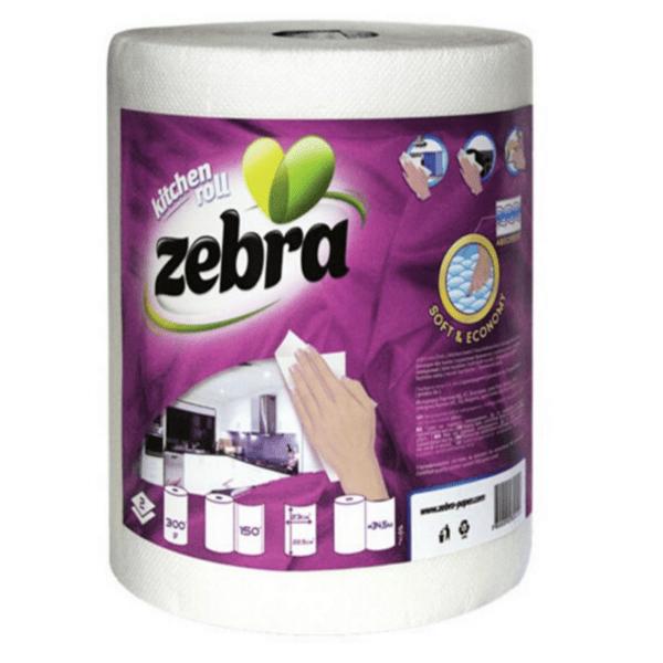 Кухненска ролка Zebra кръгла бяла