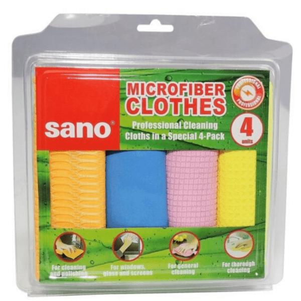 Микрофибърни кърпи Sano, 4 броя