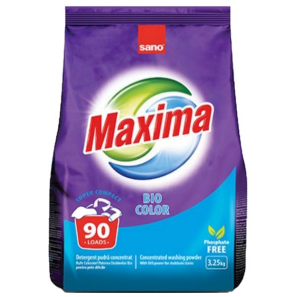 Прах за пране Sano Maxima Bio Color, 3,25 кг, 90 пранета