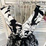 Официална рокля с дължина до пръсеца в цвят омбре-Copy