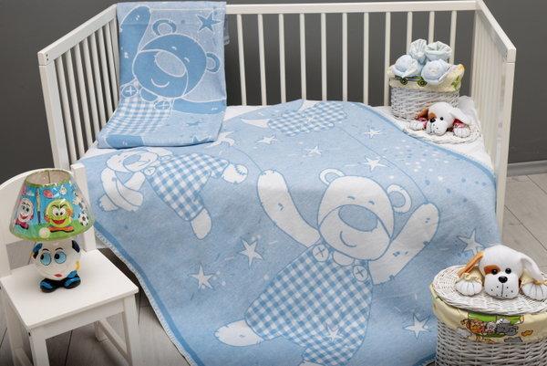 Одеяло бебе 80-1003-BLUE-22