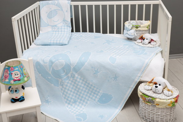 Одеяло 80-1003 L.BLUE-10