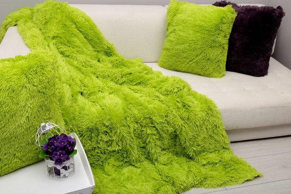 ОДЕЯЛО SHAGGY - зелено