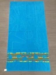 Плажна кърпа Воден свят-синьо