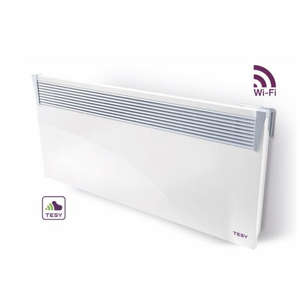 Конвектор Tesy CN 03 250 EIS CLOUD W, 2500W, WiFi управление, Електронен термостат
