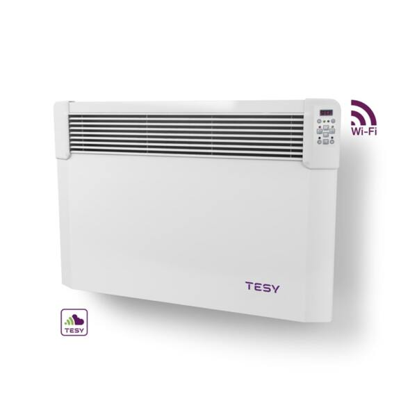Конвектор Tesy CN 04 150 EIS CLOUD W, 1500W, WiFi управление, Електронен термостат