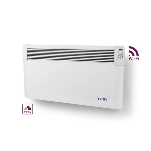 Конвектор Tesyic CN 04 200 EIS CLOUD W, 2000W, WiFi управление, Електронен термостат
