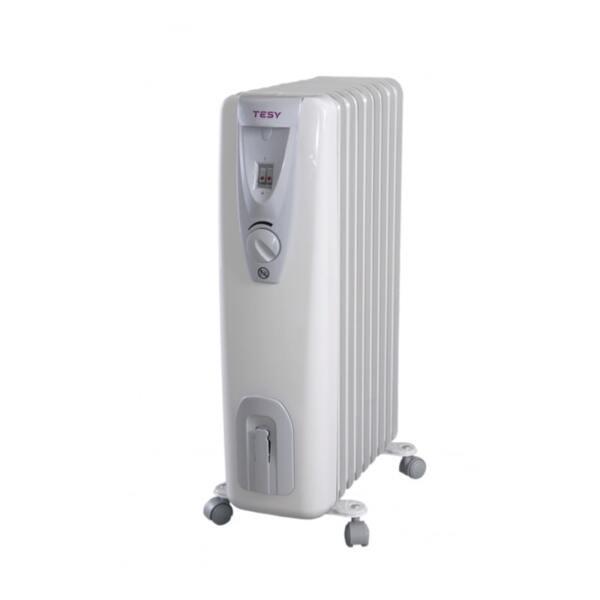Маслен радиатор Tesy CB 2009 E01 R, 2000W, Механичен терморегулатор