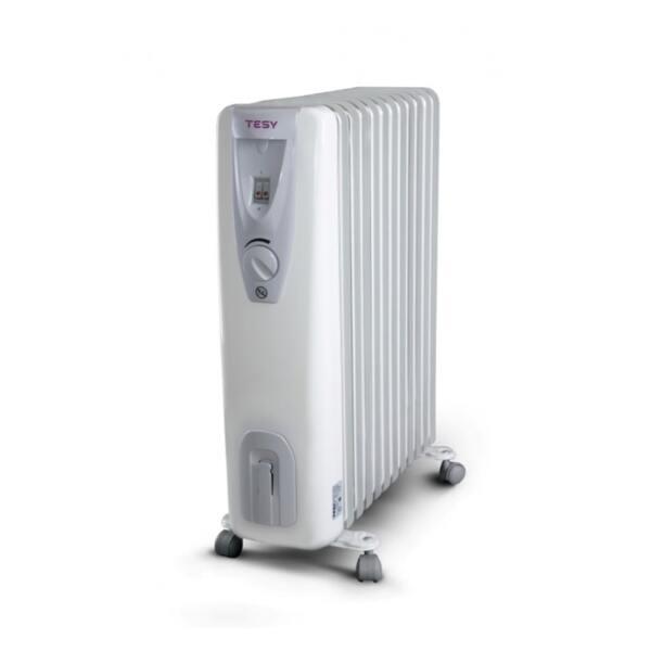 Маслен радиатор Tesy CB 2512 E01 R, 2500W, Механичен терморегулатор