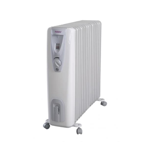 Маслен радиатор Tesy CB 3014 E01 R, 3000W, Механичен терморегулатор