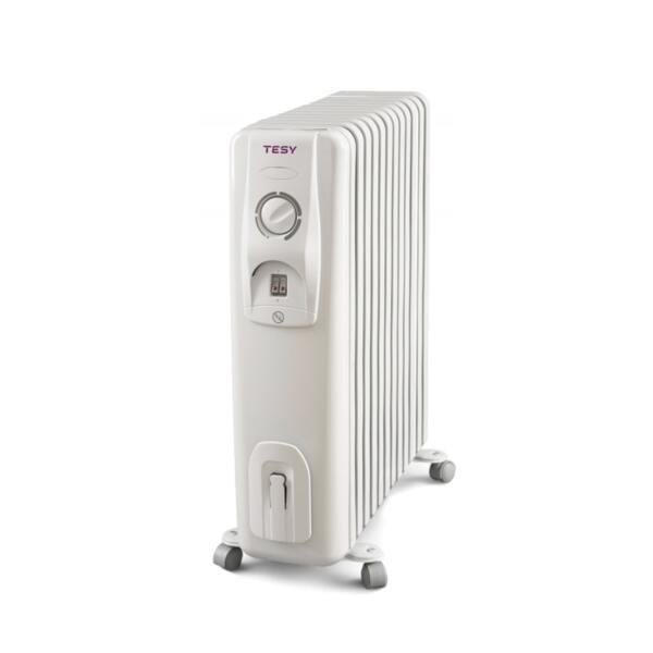 Маслен радиатор Tesy CC 2510 E05 R, 2500W, Механичен терморегулатор