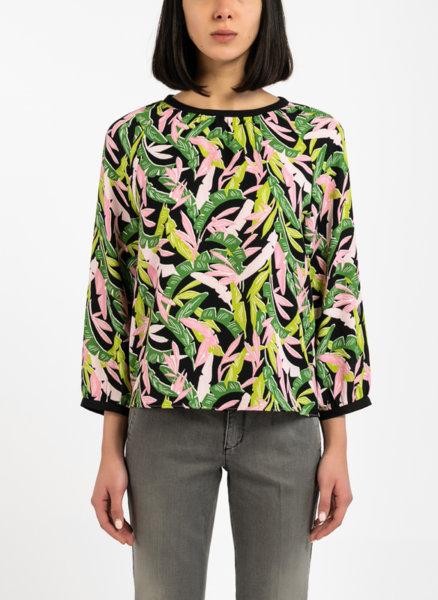 Многоцветна Boxy fit блуза