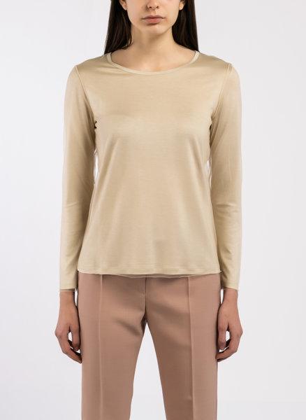 Блуза от сатенирана материя