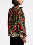 Блуза с рози и леопардов принт