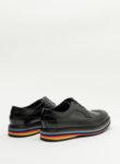 Черни обувки с раирана подметка