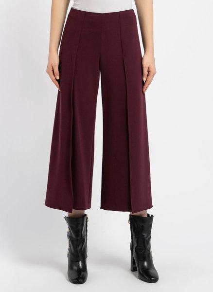 Бордо широк панталон