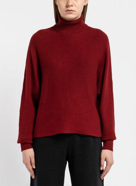 Бордо кимоно пуловер