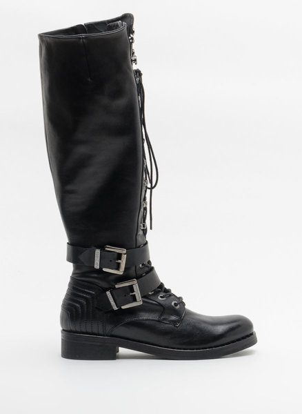 Черни ботуши с връзки