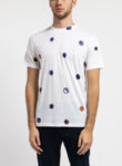 Бяла тениска Scribble Spot