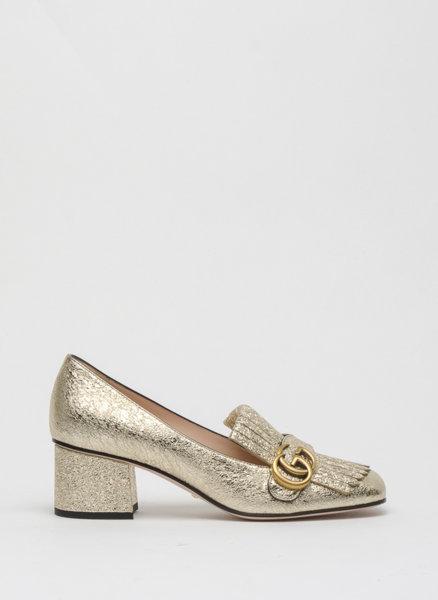 Обувки с металик ефект