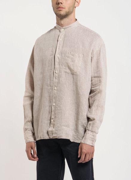 Ленена риза с изправена яка