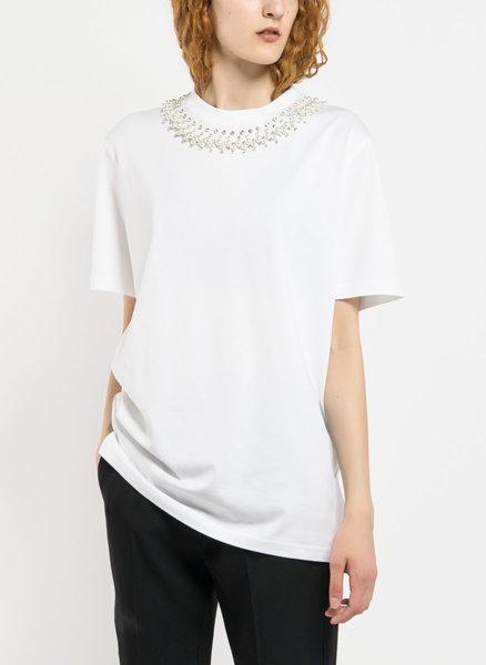 Блуза с камъни на деколтето