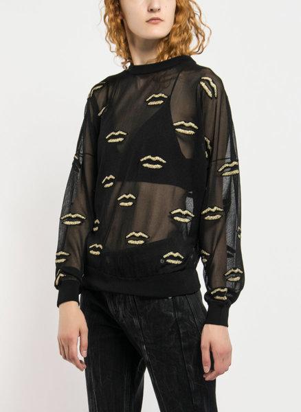 Блуза с жакардова бродерия