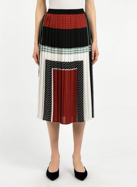 Colour block плисирана пола