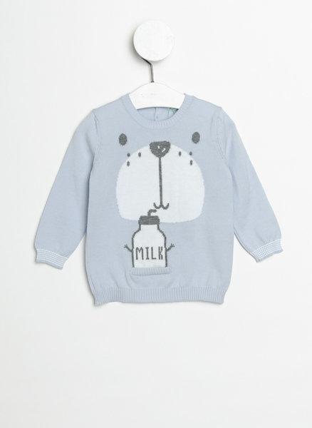Памучен пуловер с принт
