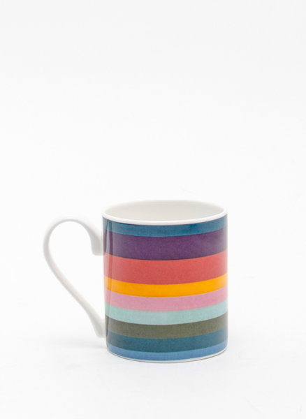 Порцеланова чаша с цветен принт