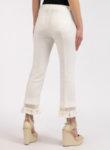 Ленен панталон с детайл ресни