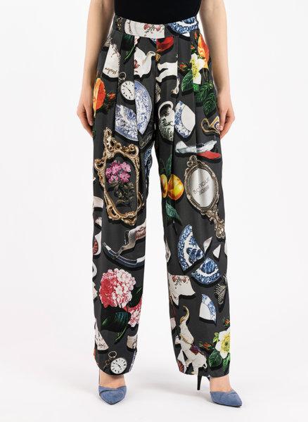 Копринен панталон с принт