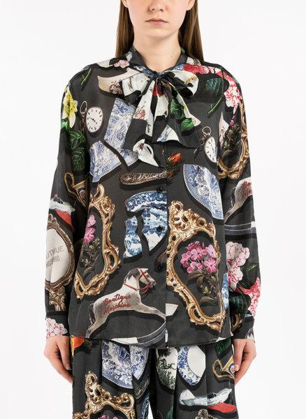 Копринена риза с принт