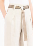 Разкроен ленен панталон